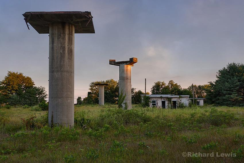 Nike Missile Base Radar Towers by Richard Lewis