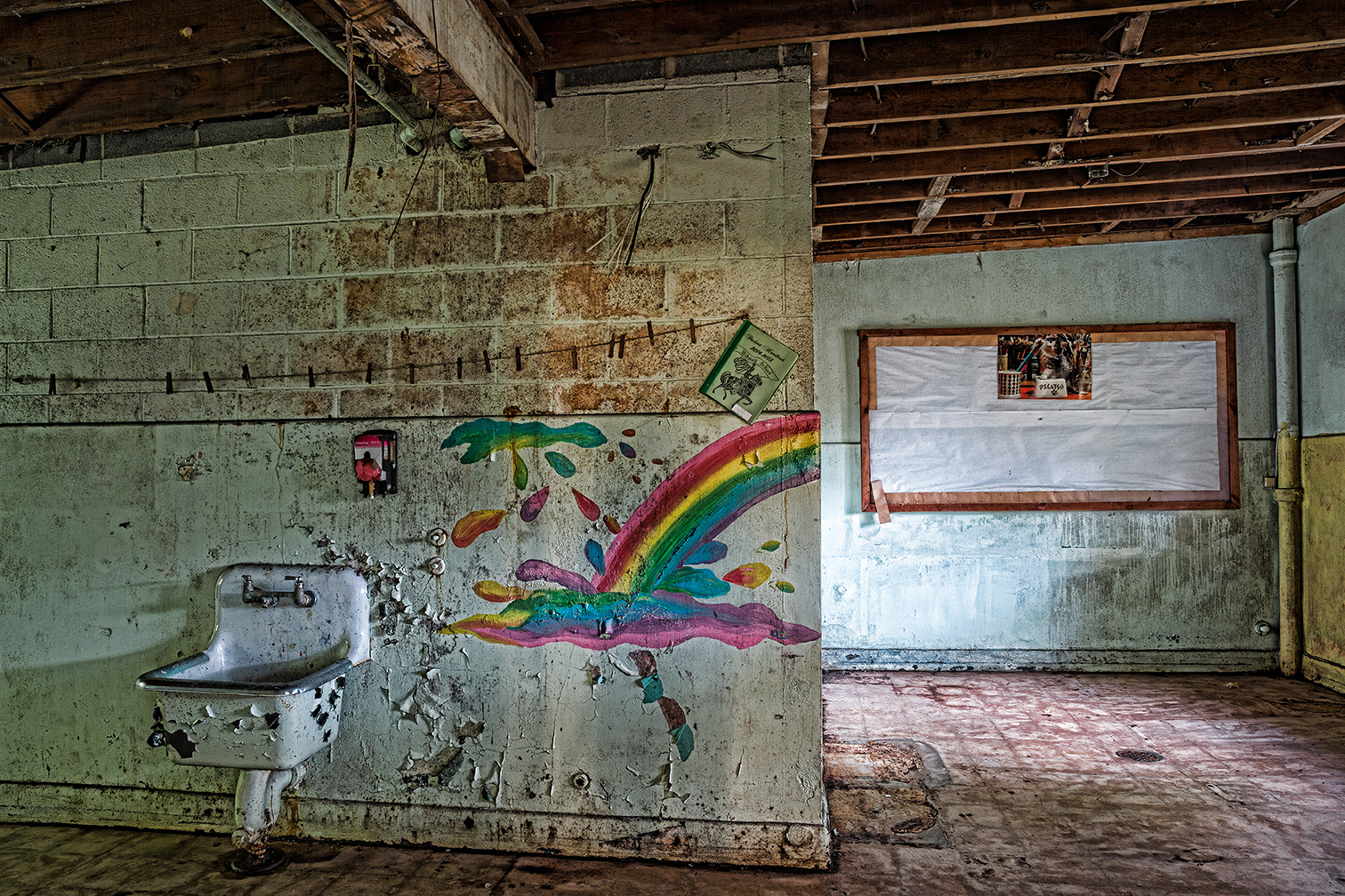 Nike Missile Battery Barracks Turned Into A School by Richard Lewis