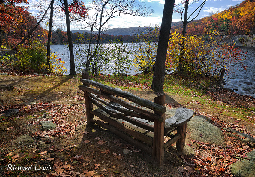 Old Bench At Bear Mountain Lodge