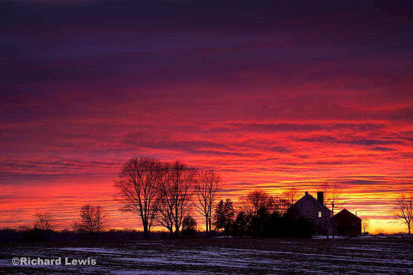 Sunset Near Vincentown New Jersey