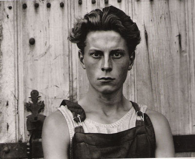 Young Boy, Gondeville, Charente, France by Paul Strand