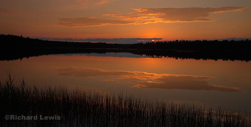Evening on Chatsworth Lake by Richard lewis