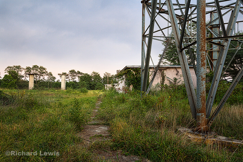 Nike Missile Battery Radar Towers by Richard Lewis