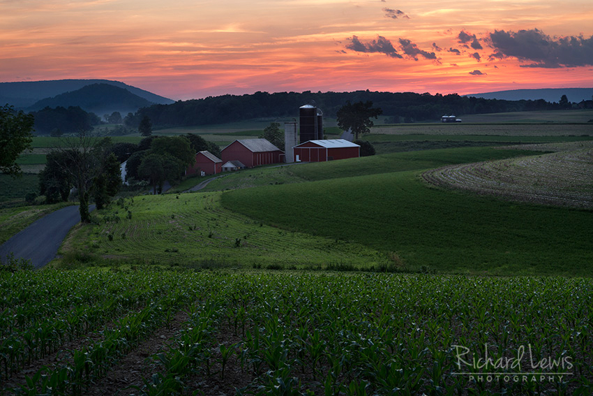 Rural Pennsylvania Sunset by Richard Lewis