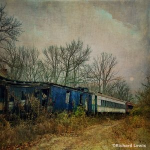 Old Train In Red White And Blue iPhone Photograph