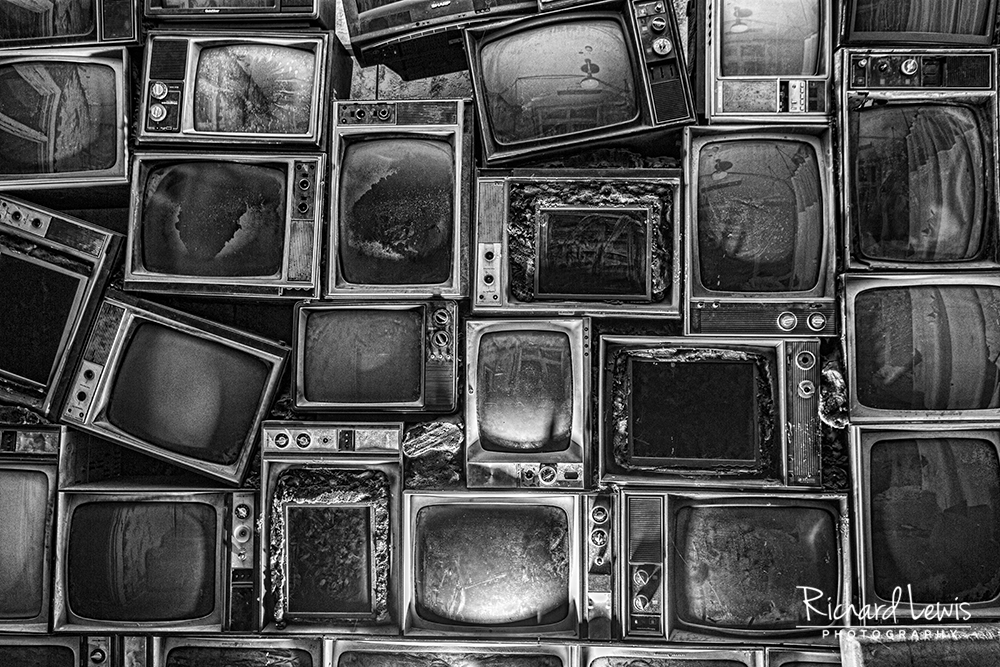 Stacks of Televisions at Pennhurst by Richard Lewis