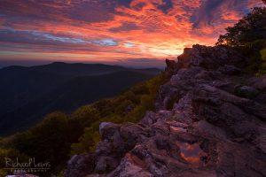 Dawns Light on Hawksbill Mountain in Shenandoah National Park