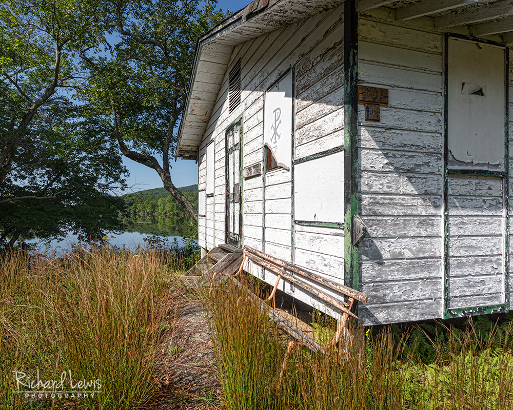 Cabin By The Lake at Cejwin Camp by Richard Lewis