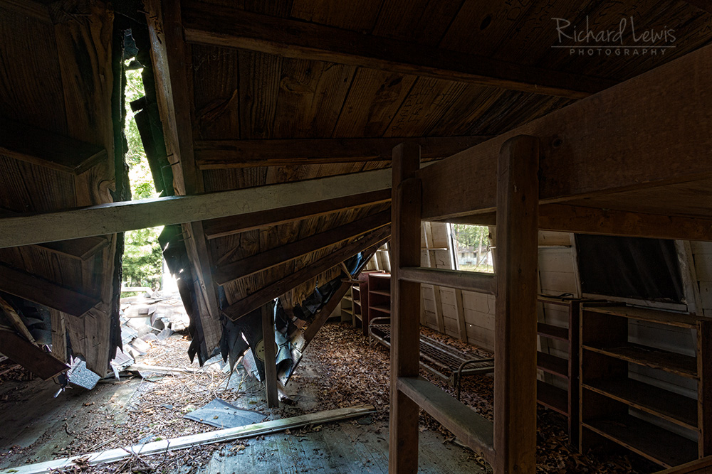 Collapsed Cabin Interior at Cejwin Camp by Richard Lewis