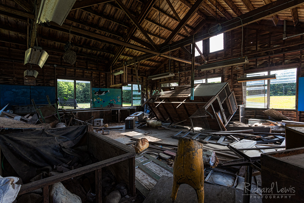 Social Hall at Cejwin Camp by Richard Lewis