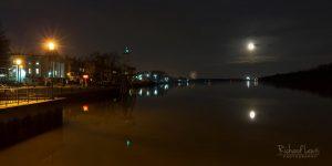 Super Moon Over Bristol Pennsylvania by Richard Lewis