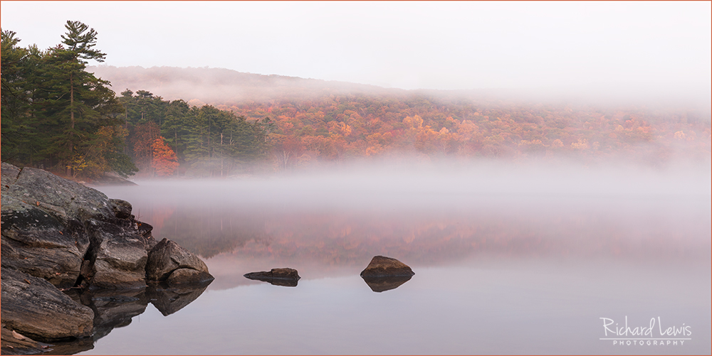 Fall Morning Mist Sterling Lake Harriman State Park New York