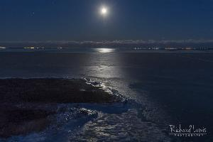 Full Moon Over The Great Bay Pinelands New Jersey