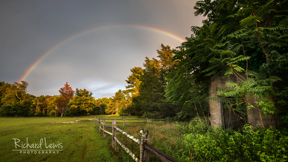 Rainbow At The Storm's End in the Pine Barrens