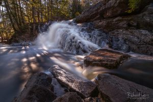 Frozen Purgatory Falls New Hampshire by Richard Lewis